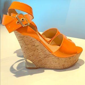 Shoes - Orange Colin Stuart wedges